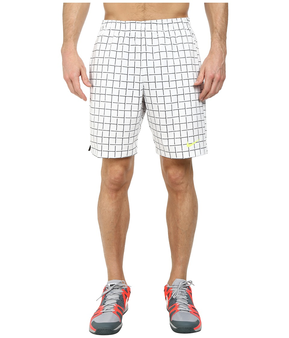 Nike - Court Plaid 9 Short (White/White) Men's Shorts