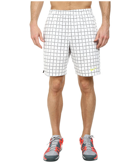 Nike - Court Plaid 9 Short (White/White) Men's Shorts