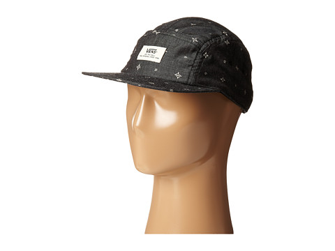 Vans - Davis 5-Panel Camper Hat (Black Barrio) Caps