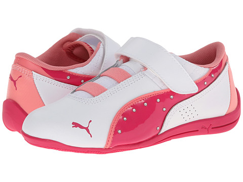 Puma Kids - Drift Cat 6 Diamonds V (Toddler/Little Kid/Big Kid) (White/Beetroot Purple/Salmon Rose) Girls Shoes