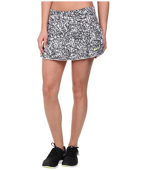 Nike - Victory Printed Skirt (Black/White/Volt) Women's Skort