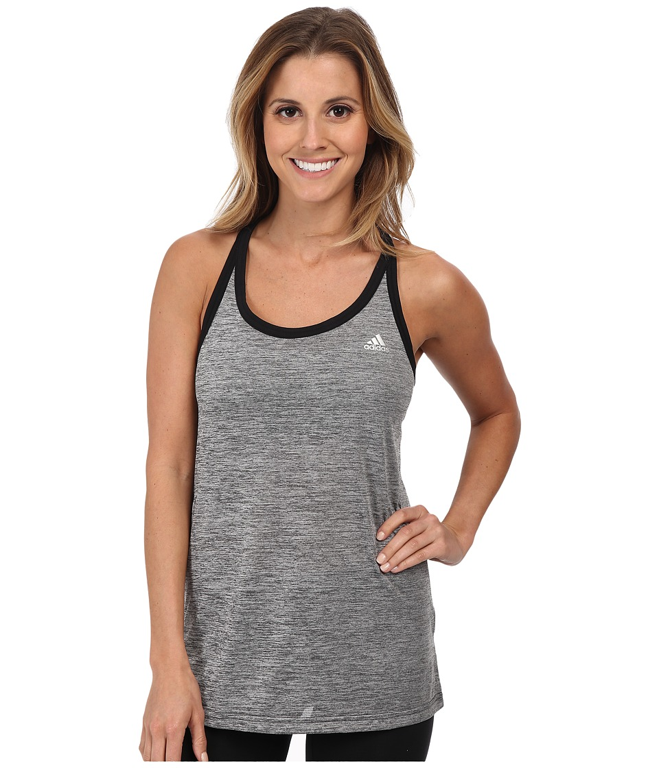 adidas - Hi 5 Tank (Dark Grey Heather/Black/Matte Silver) Women's Sleeveless