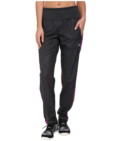 adidas - Derby Track Woven Pant (Dark Grey/Flash Pink/Matte Silver) Women