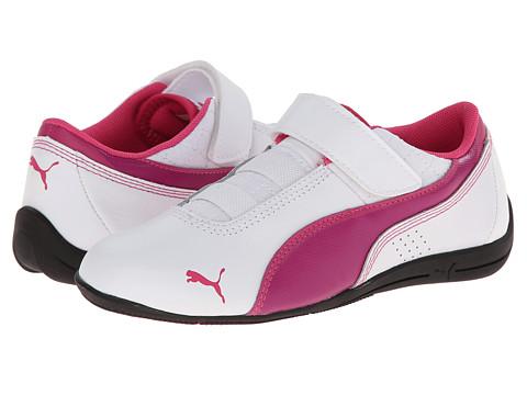 Puma Kids - Drift Cat 6 L V (Toddler/Little Kid/Big Kid) (White/Vivid Viola/Beetroot Purple) Girls Shoes