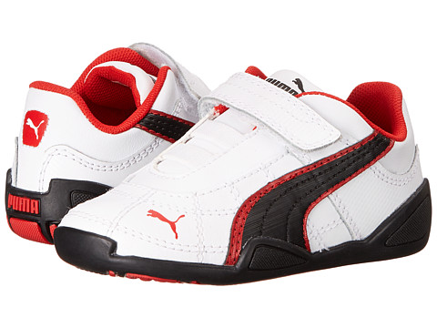 Puma Kids - Tune Cat B 2 V (Toddler/Little Kid/Big Kid) (White/Black/High Risk Red) Boy