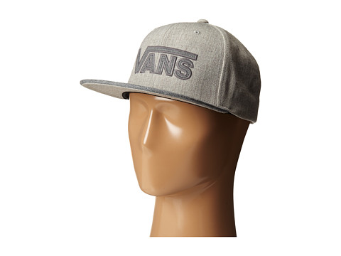 Vans - Drop V Plus Snapback Hat (Heather Grey) Caps