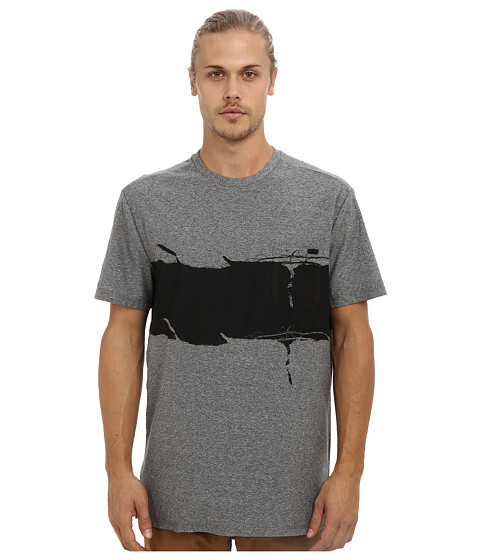 Marc Ecko Cut & Sew - In The Fray Crew (Heather Gray) Men's Short Sleeve Pullover