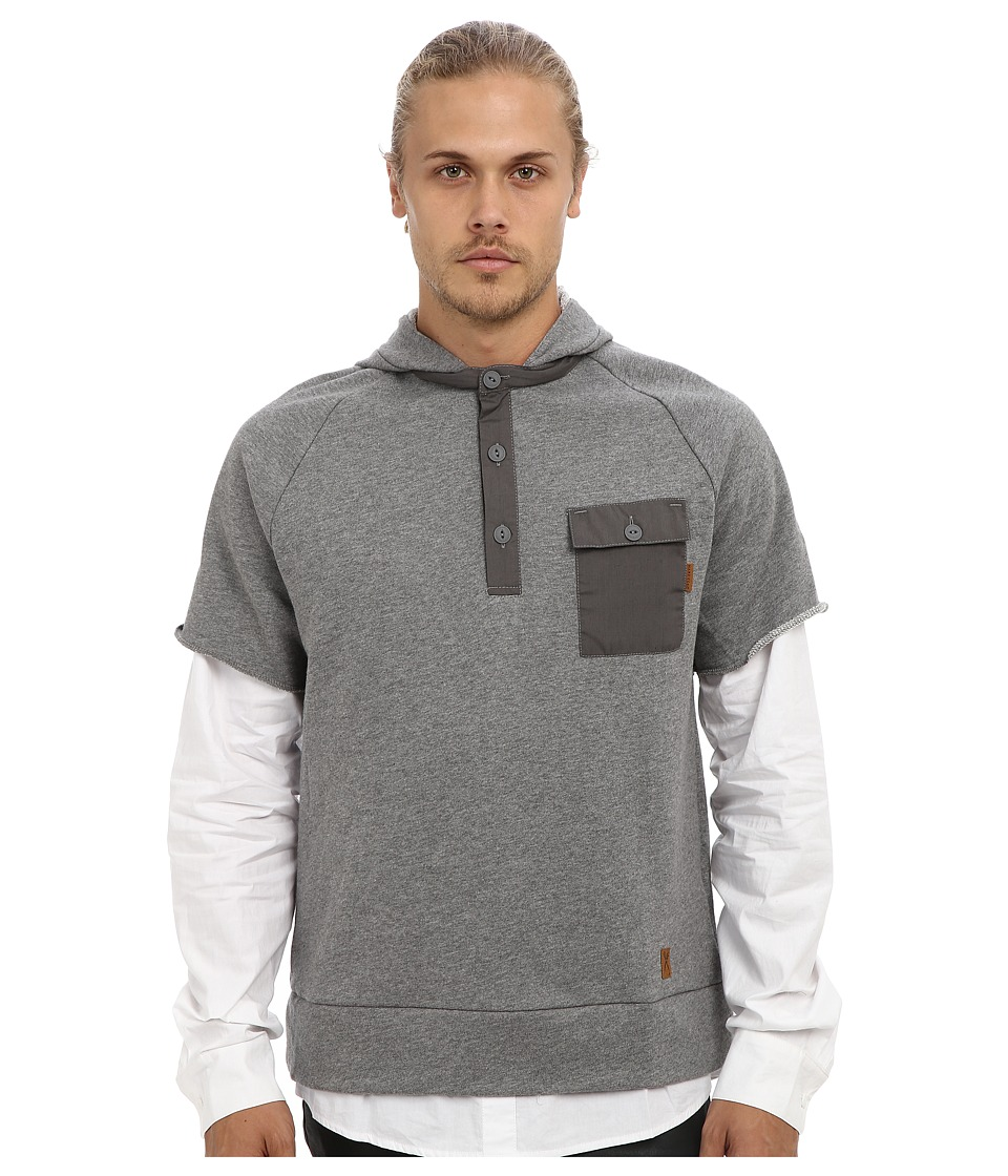 Marc Ecko Cut & Sew - Casual Over Class Pullover (Heather Gray) Men's Short Sleeve Pullover