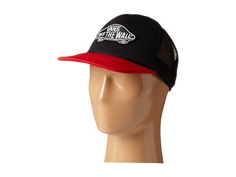 Vans - Classic Patch Trucker (Black/Reinvent Red) Caps