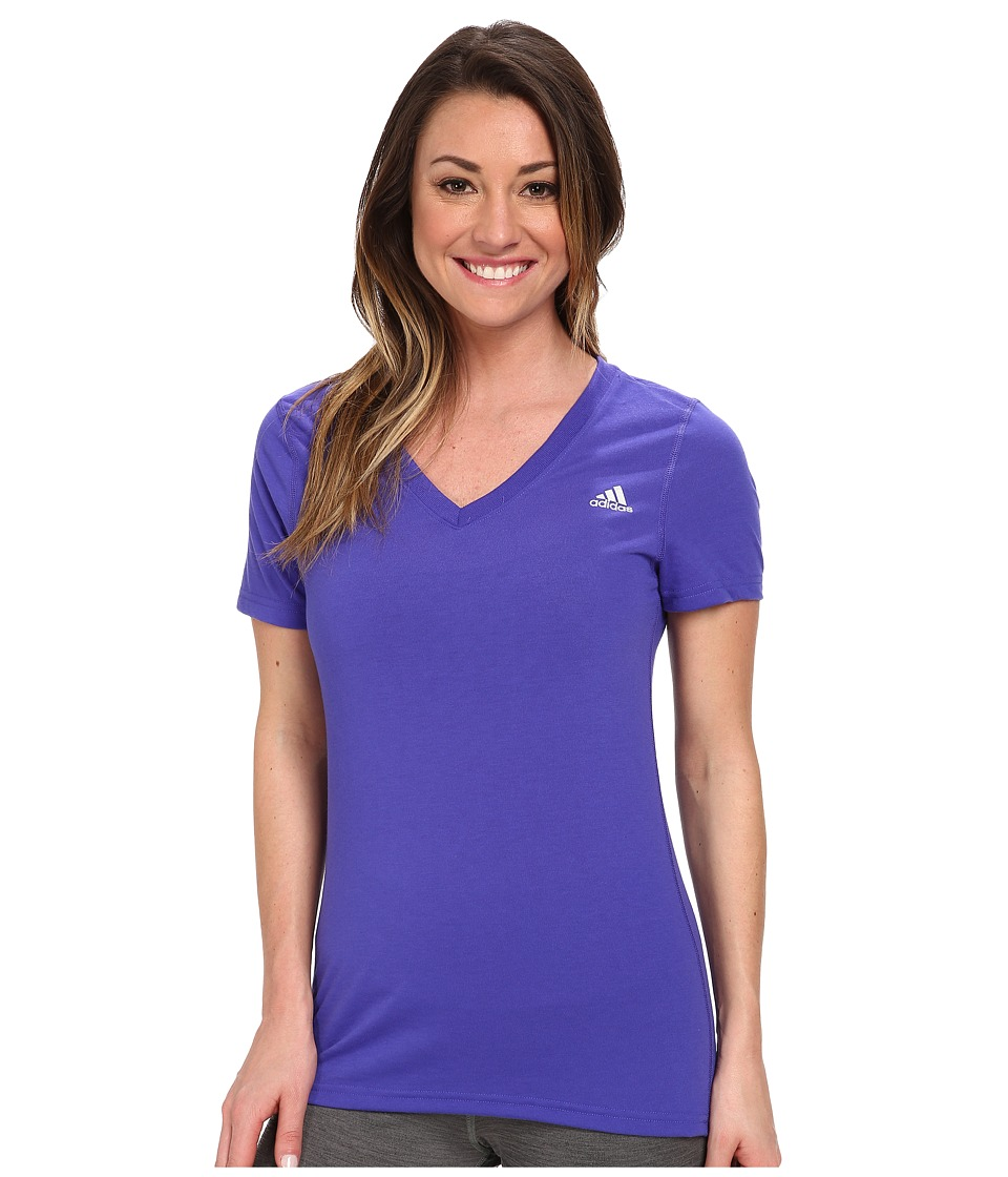 adidas - Ultimate S/S V-Neck Tee (Night Flash/Matte Silver) Women
