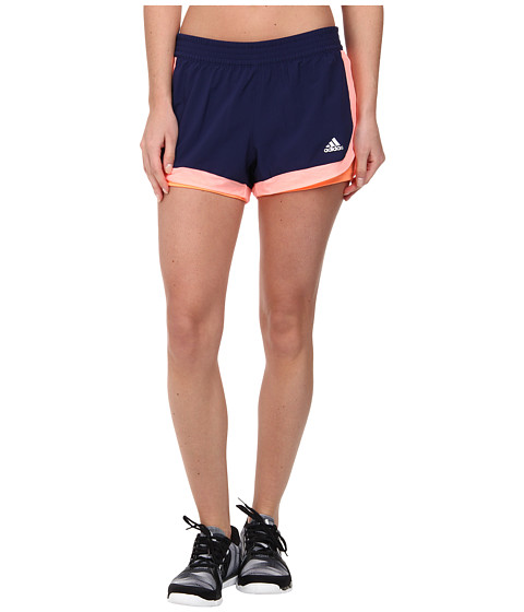 adidas - 2-in-1 Woven Short (Night Sky/Light Flash Orange/Flash Orange) Women