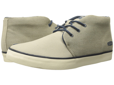Keen - Santa Cruz Canvas (White Pepper) Men's Lace up casual Shoes