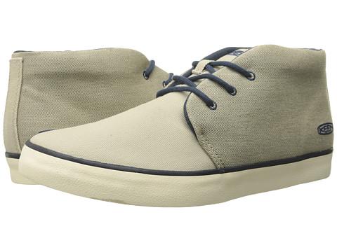 Keen - Santa Cruz Canvas (White Pepper) Men's Lace up casual Shoes