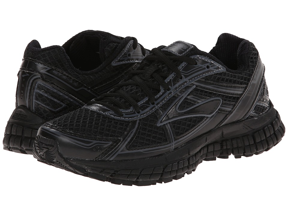 Brooks Kids - Adrenaline GTS 15 (Little Kid/Big Kid) (Black/Anthracite) Kids Shoes