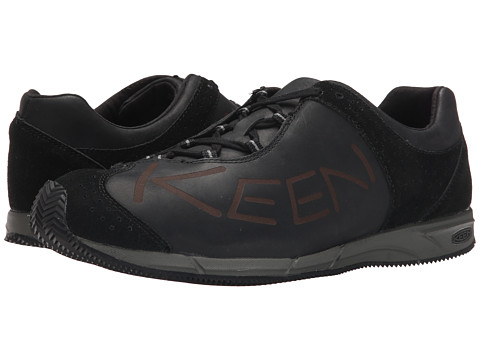 Keen - A86 Leather (Black) Men's Lace up casual Shoes