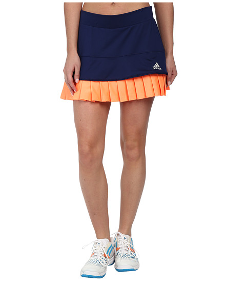adidas - All Premium Skort (Night Sky/Flash Orange/Pearl Metallic) Women's Skort
