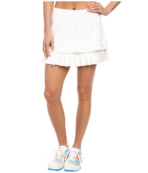 adidas - All Premium Skort (White/Pearl Metallic) Women's Skort