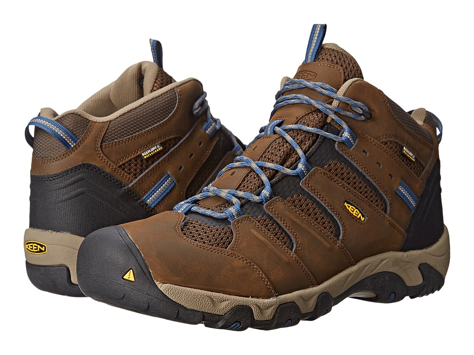 Keen - Koven Mid WP (Cascade Brown/Ensign Blue) Men's Hiking Boots