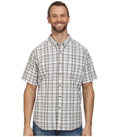 Columbia - Big Tall Rapid Rivers II Short Sleeve Shirt (Light Grey) Men's Short Sleeve Button Up