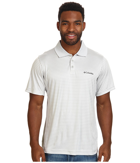 Columbia - Utilizer Stripe Polo Shirt (Cool Grey) Men's Short Sleeve Pullover