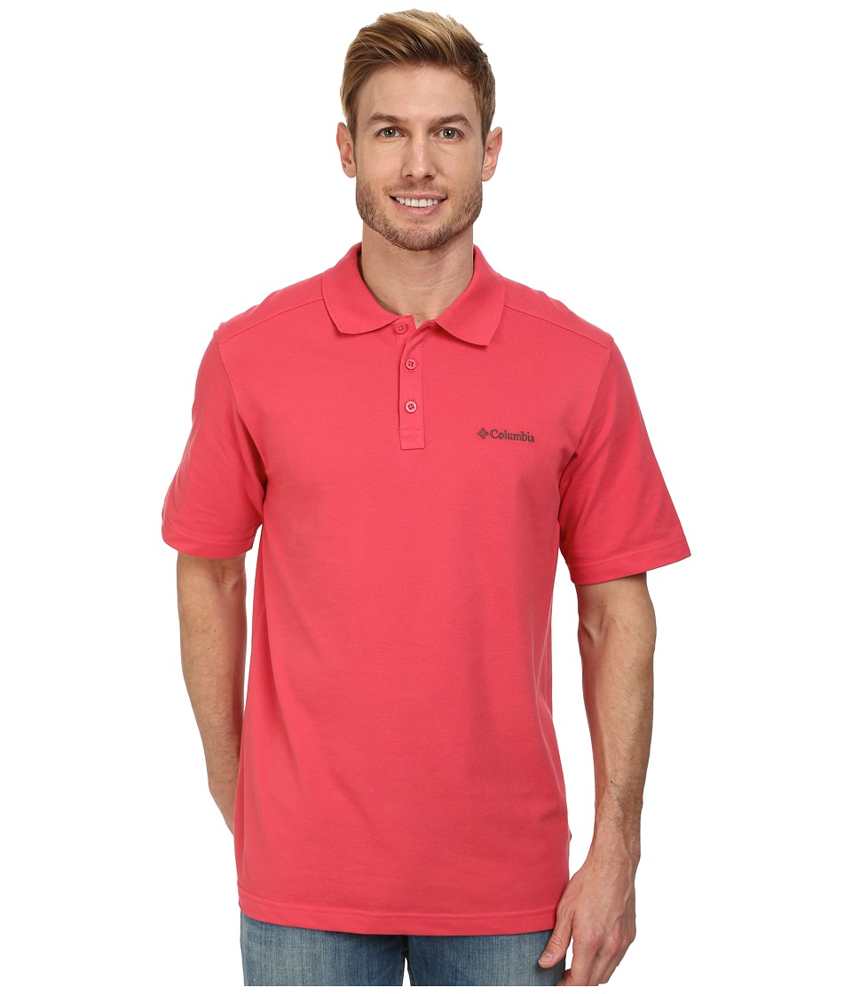 Columbia - Elm Creek Polo (Sunset Red) Men's Short Sleeve Knit