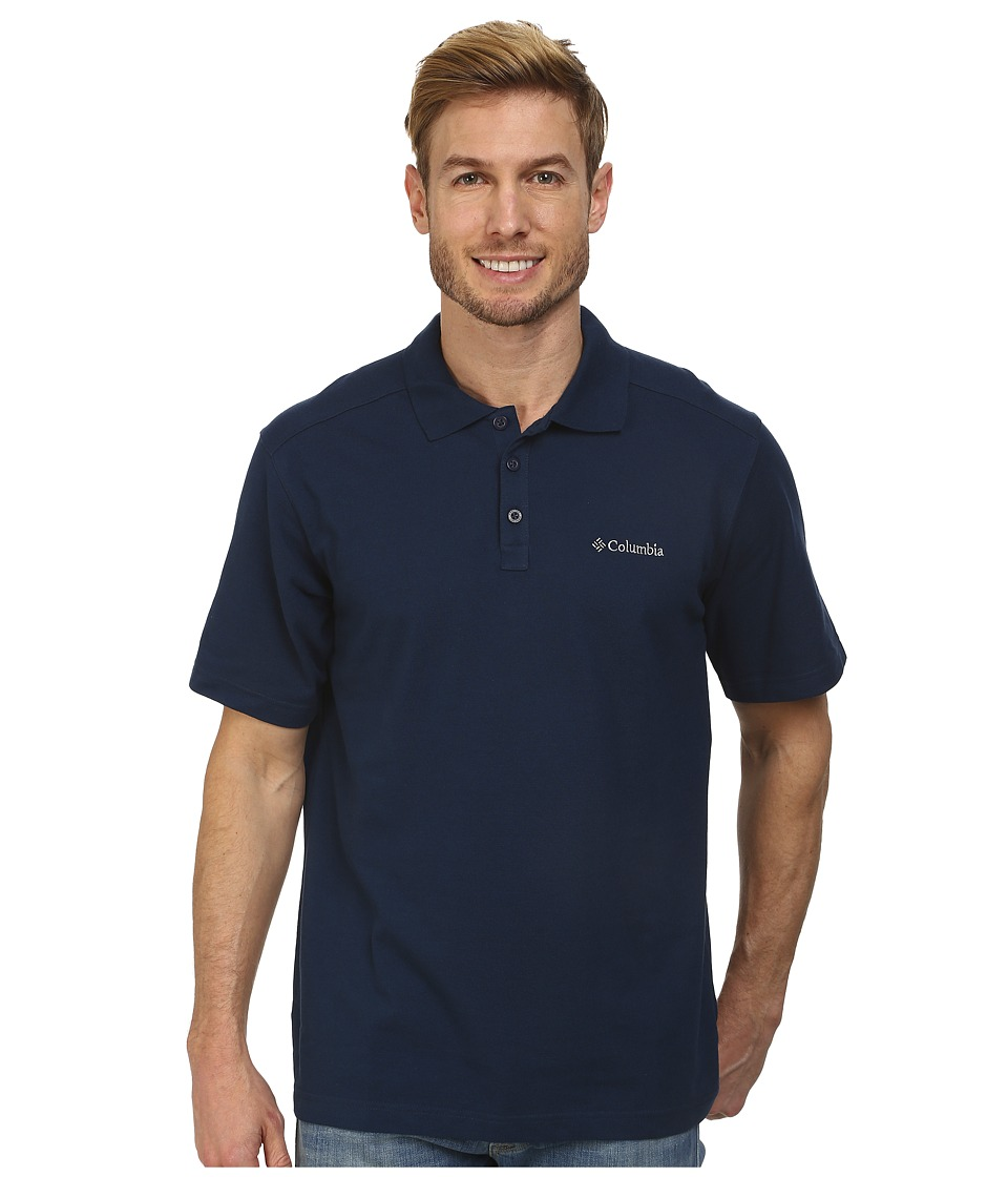 Columbia - Elm Creek Polo (Columbia Navy) Men's Short Sleeve Knit