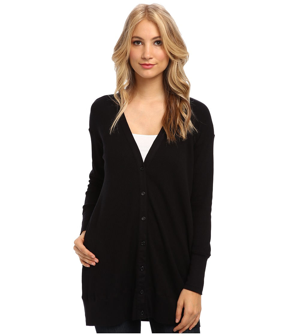 Splendid - Button Cardi (Black) Women's Sweater