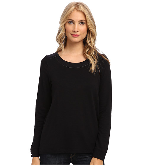 Splendid - Downing Street Color Block Tunic (Black) Women's Sweater