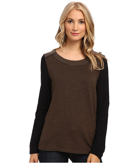 Splendid - Downing Street Color Block Tunic (Olive) Women's Sweater