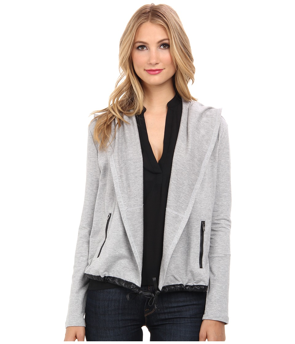 Splendid - Downing Street Color Block Drape Jacket (Heather Grey) Women's Coat