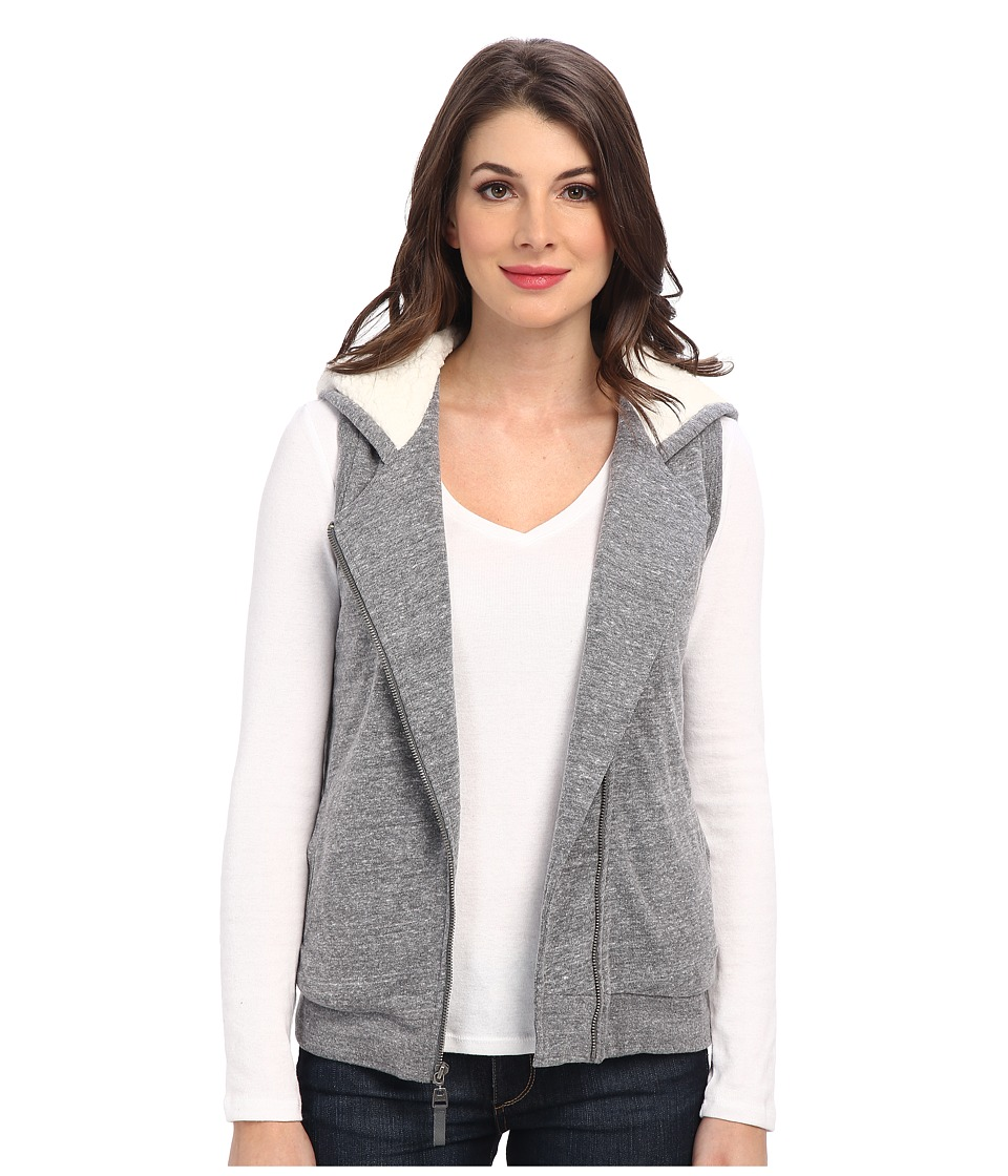 Splendid - Powell Sherpa Vest (Heather Grey) Women's Coat
