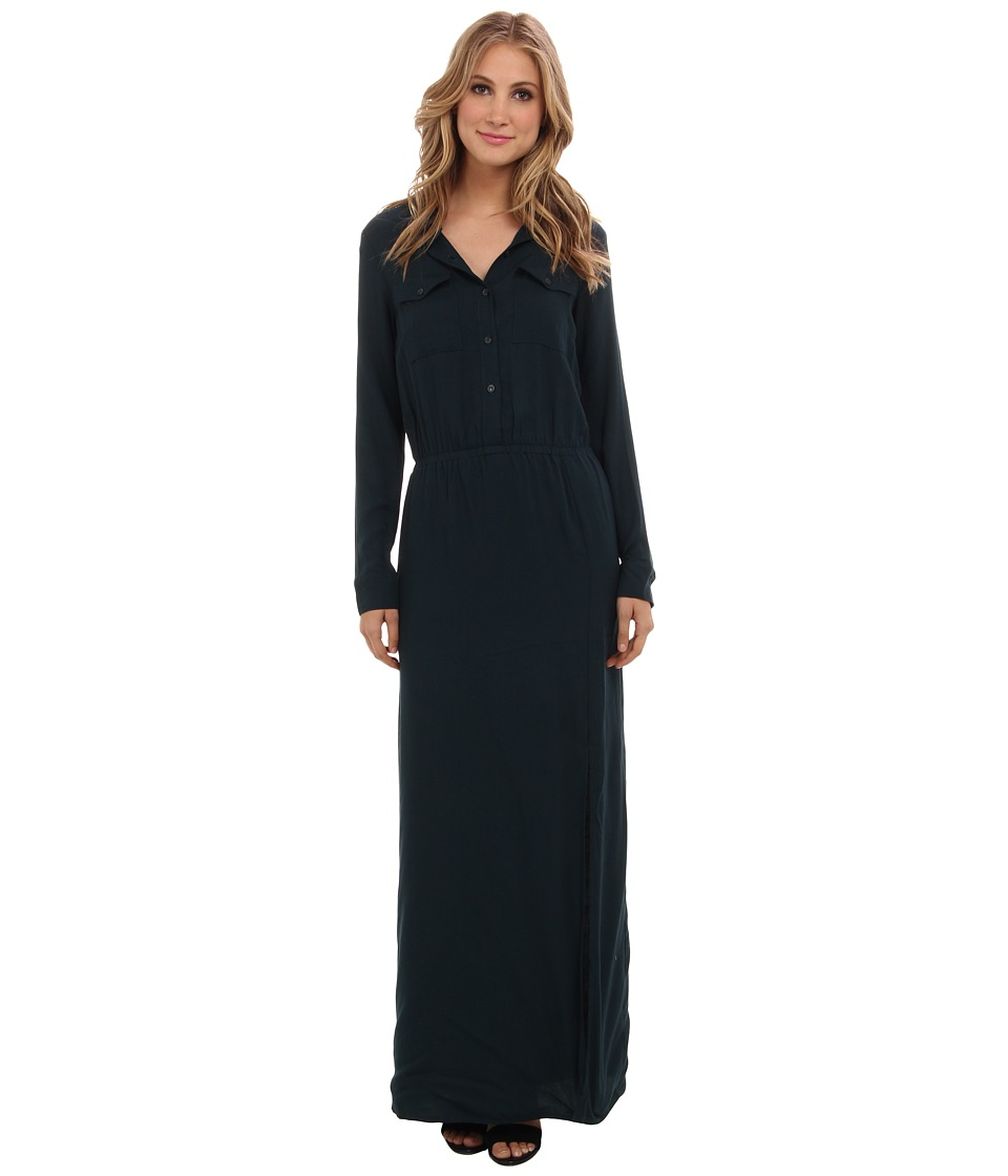 Splendid - Maxi Shirt Dress (Evergreen) Women's Dress