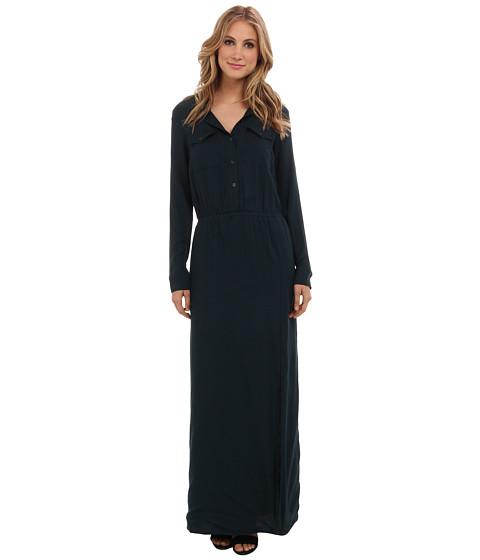 Splendid - Maxi Shirt Dress (Evergreen) Women's Dress