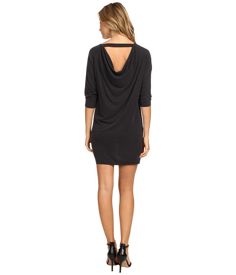 Splendid - Drape Back Dress (Black) Women