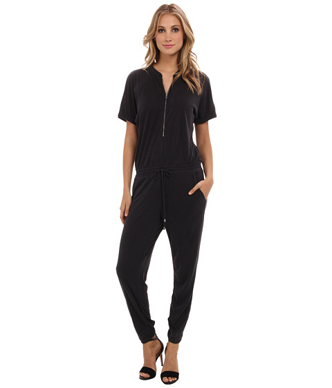 Splendid - Zip Up Jumpsuit (Black) Women's Jumpsuit & Rompers One Piece