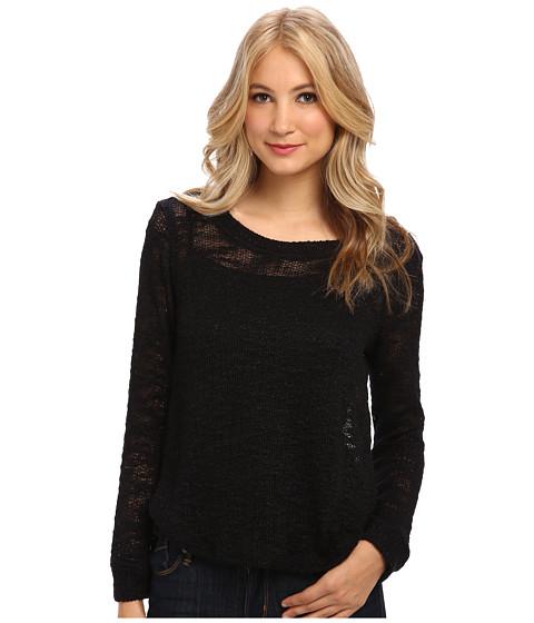 Splendid - Pullover Top (Black) Women's Sweater