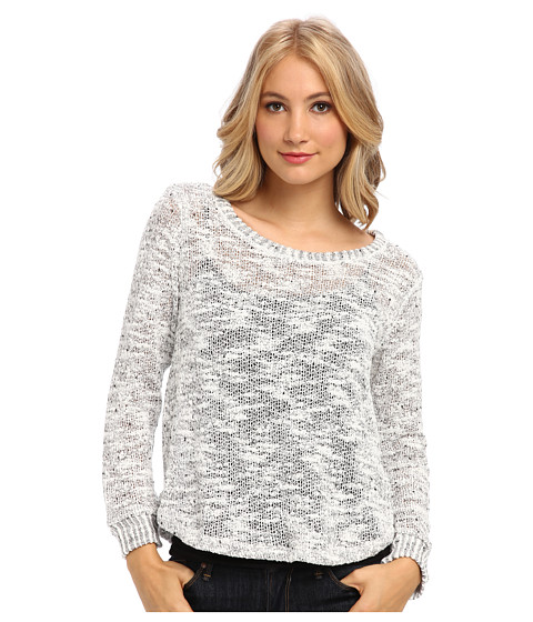 Splendid - Pullover Top (Heather White) Women's Sweater