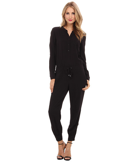 Splendid - Ankle Zip Jumpsuit (Black) Women's Jumpsuit & Rompers One Piece