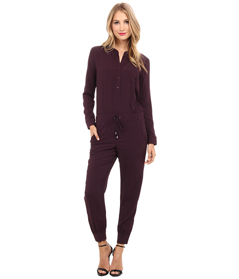 Splendid - Ankle Zip Jumpsuit (Aubergine) Women