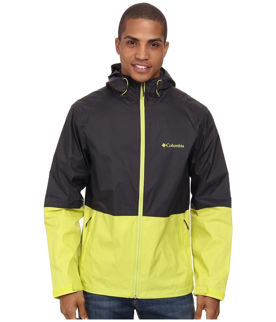 Columbia Roan Mountain Jacket (Shark/Chartreuse) Men