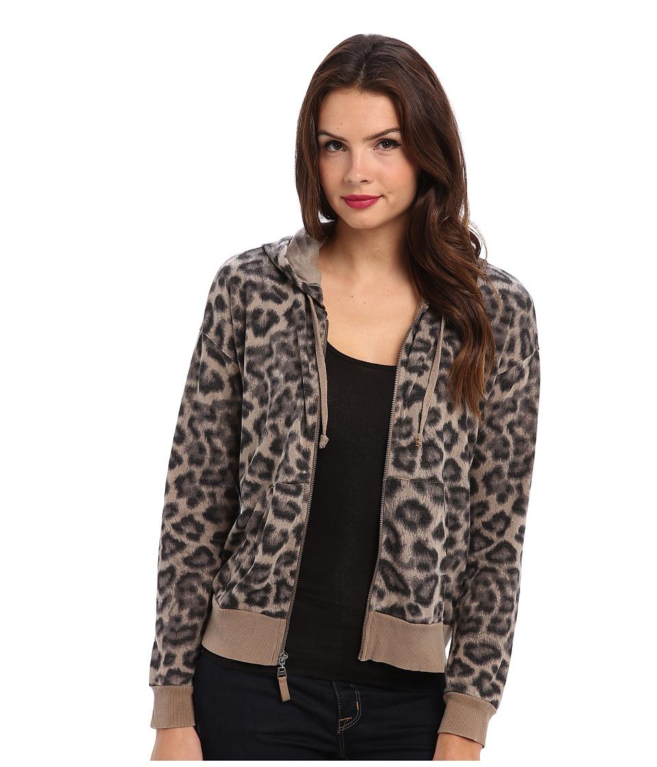 Splendid - Leopard Hoodie (Tan) Women's Sweatshirt