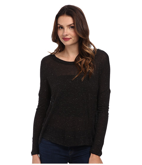 Splendid - Sparkle Popover (Black) Women's Clothing