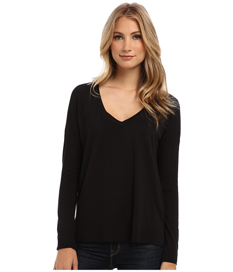 Splendid - Dolman Top (Black) Women's Long Sleeve Pullover