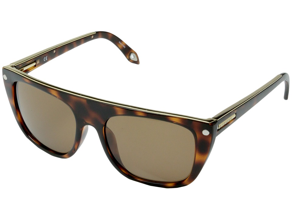 Givenchy - SGV 883 (Tortoise Gold/Brown) Fashion Sunglasses