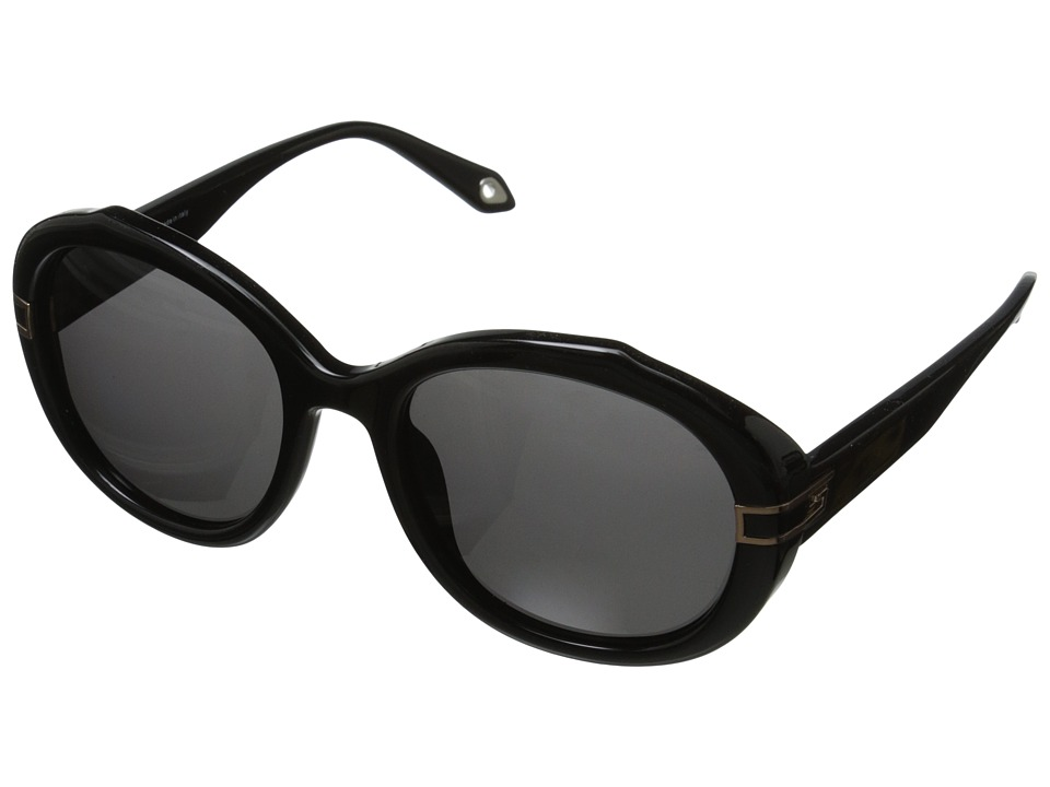 Givenchy - SGV 877 (Shiny Black/Gold/Grey) Fashion Sunglasses