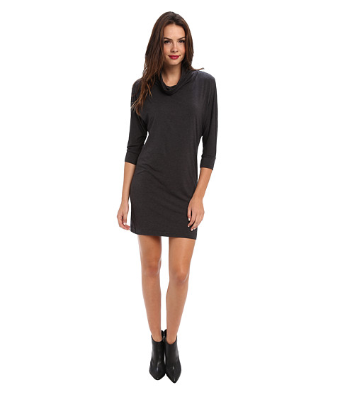 Splendid - Turtle Neck Dress (Charcoal) Women's Dress