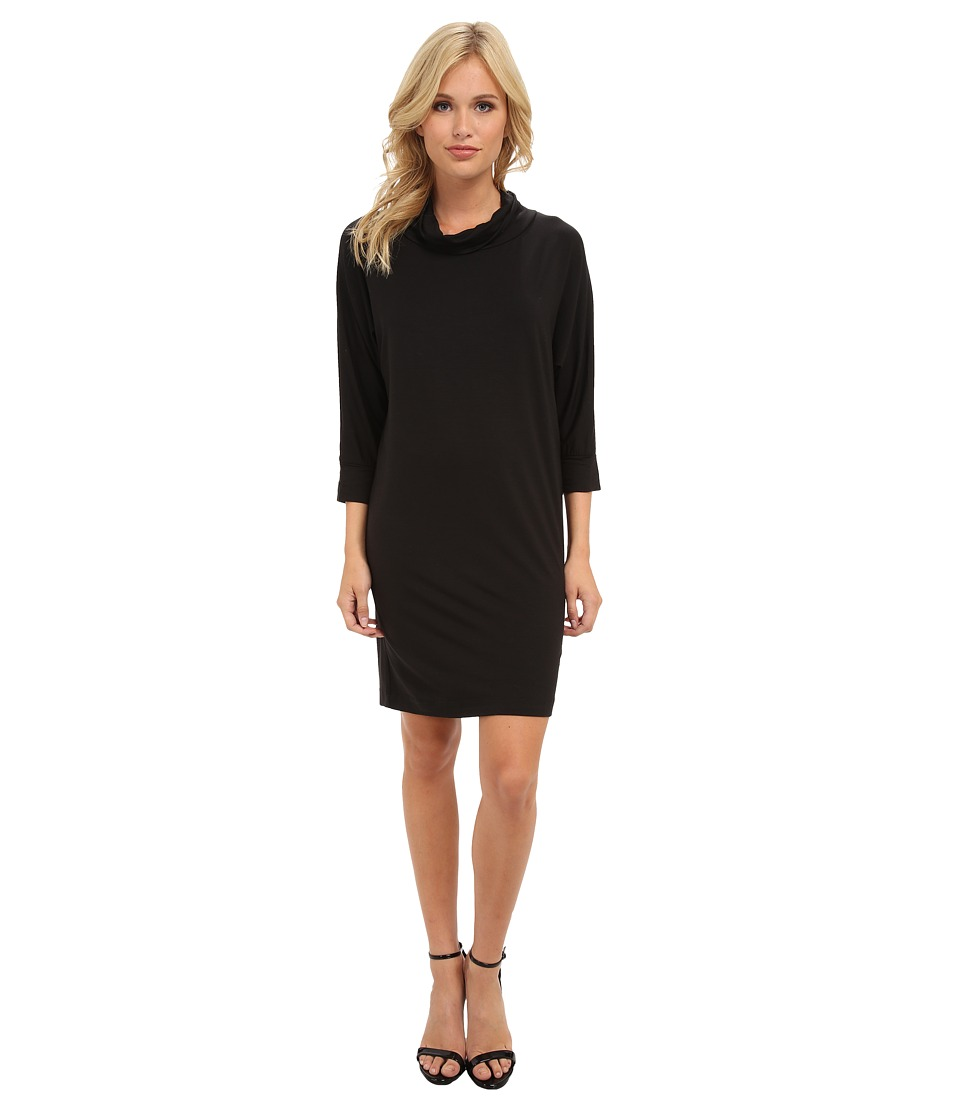 Splendid - Turtle Neck Dress (Black) Women's Dress