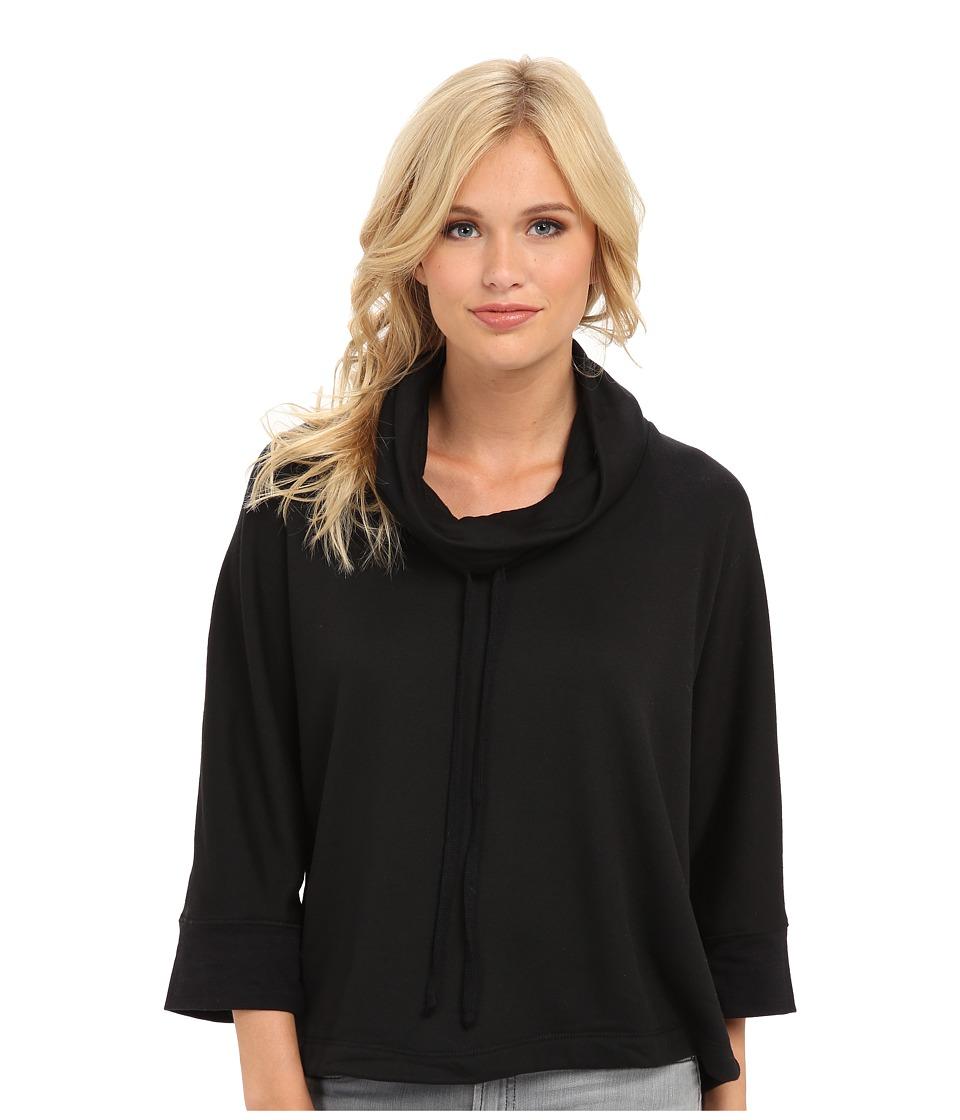 Splendid - Cowl Neck Poncho (Black) Women's Long Sleeve Pullover