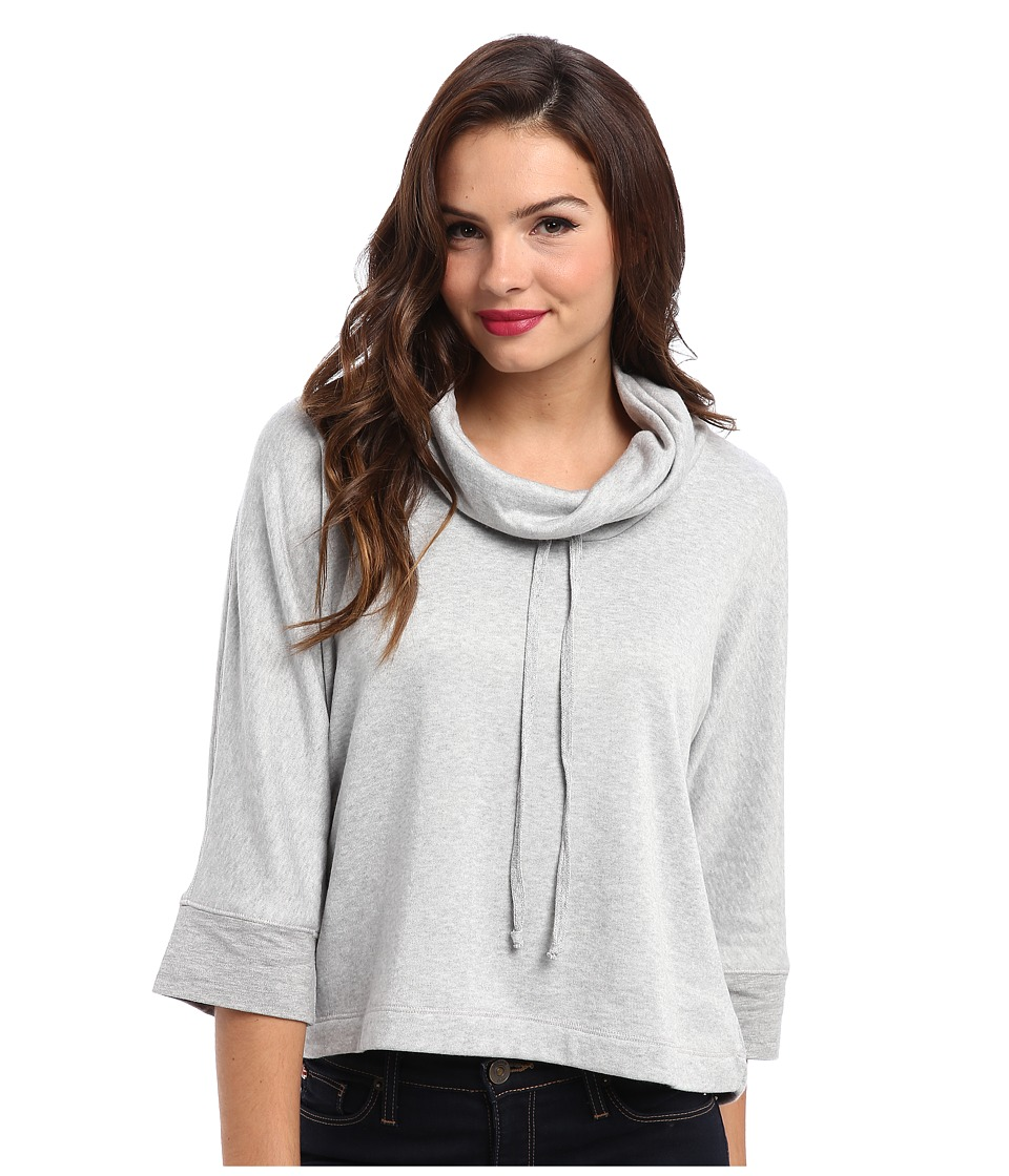 Splendid - Cowl Neck Poncho (Heather Grey) Women's Long Sleeve Pullover