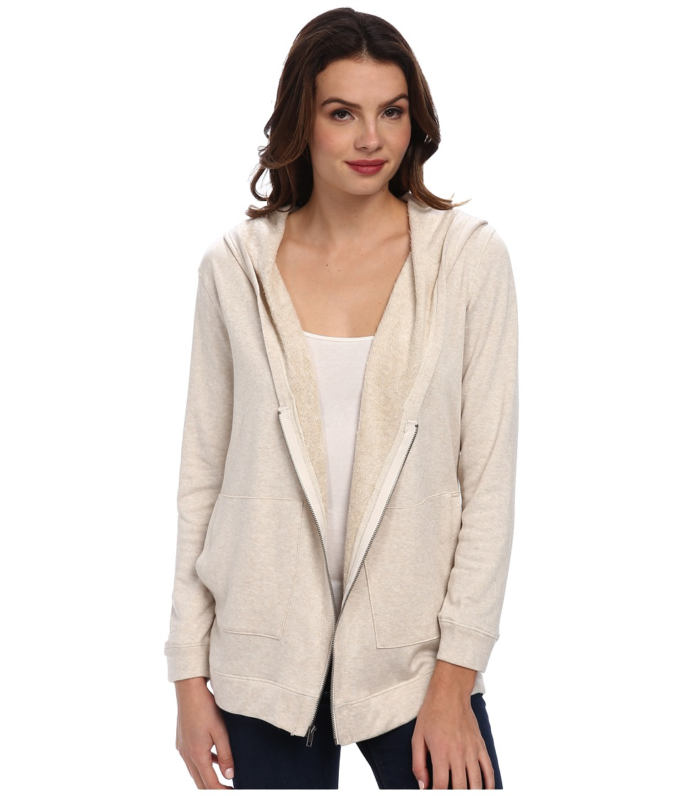 Splendid - Fleece Cardigan (Cream) Women's Sweater